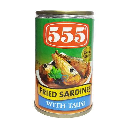 555 Fried Sardines w Tausi 155g