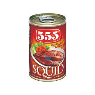 555 Squid w Chili 155g