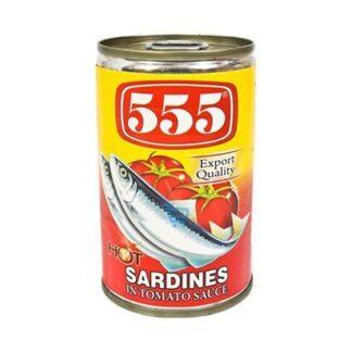 555 Sardines Hot Chili 155g