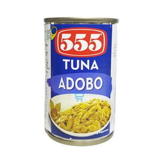555 Tuna Flakes Adobo 155g