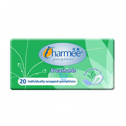 Charmee Breathable Green Pantyliners