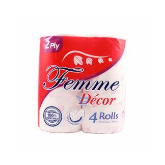 Femme Decor Bathroom Tissue 2ply 4 Rolls