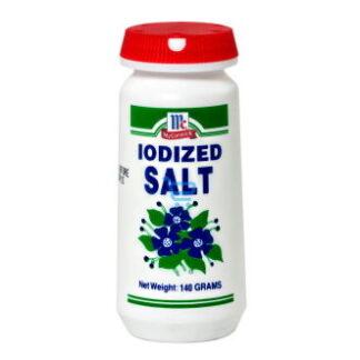 McCormick Iodized Salt Bottle 140g