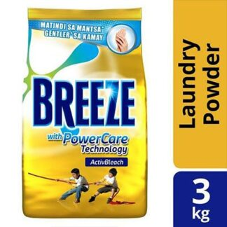 Breeze Laundry Detergent Powder with Active Bleach 3kg
