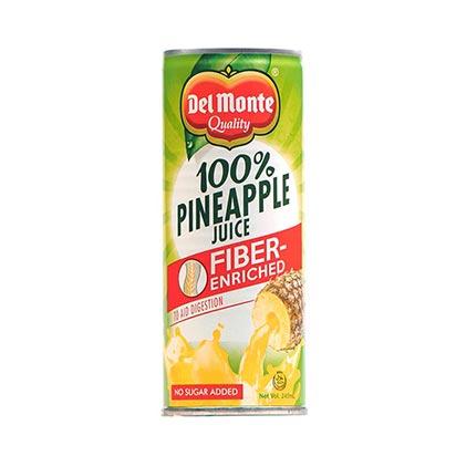 Del Monte Pineapple Fiber Juice Can 240ml