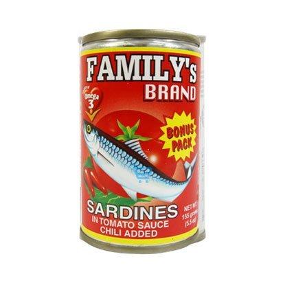 Family's Sardines Hot Chili 155g