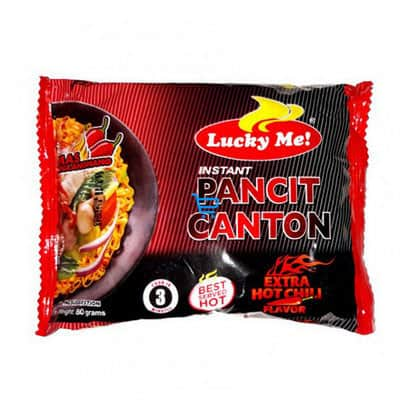 luckyme pancit canton hot chili 60g 1