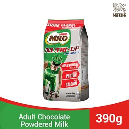 Milo Adult Nutri Up Choco Malt Drink 390g