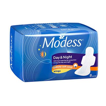 Modess Day Night Cottony Wings Sanitary Napkin  8s