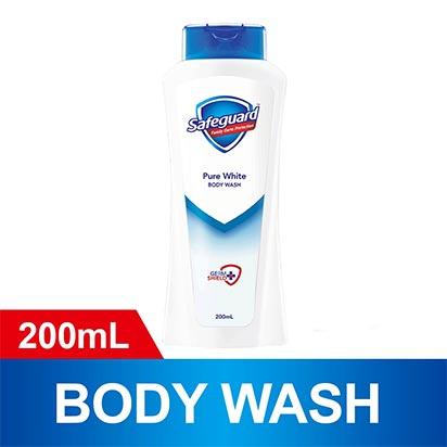 Safeguard White Body Wash 200ml