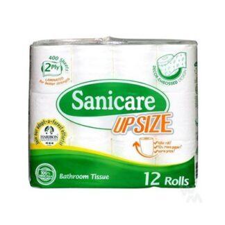 Sanicare Upsize 2ply 12 Rolls Toilet Tissue