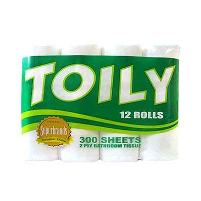 Toily 2ply 12 Rolls Toilet Tissue