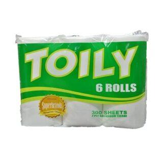 Toily 2ply 6 Rolls Toilet Tissue