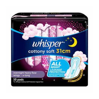 Whisper All Night 31cm Wings Sanitary Napkin  10s
