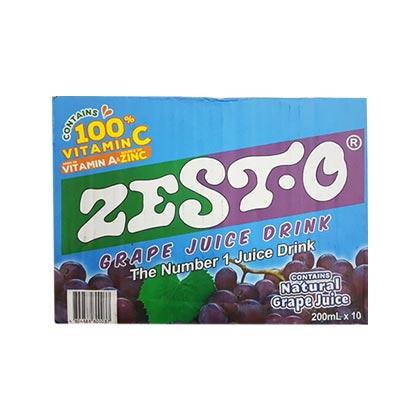ZestO Grape Juice Drink 200ml Box
